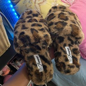 Forever 21 Shoes - Cheetah slippers